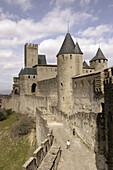 Ancient, Architecture, Carcassonne, Castle, Castles, Color, Colour, Daytime, Europe, Exterior, Fortress, Fortresses, France, Historic, Historical, History, Medieval, Outdoor, Outdoors, Outside, Roussillon, Stronghold, Strongholds, Town, Towns, Travel, Tr