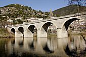 Arch, Arches, Architecture, Bridge, Bridges, Color, Colour, Daytime, Europe, Exterior, France, Languedoc-Roussillon, Orb, Outdoor, Outdoors, Outside, River, Rivers, Roquebrune, Town, Towns, Travel, Travels, Water, World locations, World travel, B08-51116