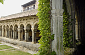 Cloister of Romanesque collegiate church. Santillana del Mar. Cantabria, Spain