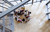 Visitors at Guggenheim Museum (building by Frank O. Gehry). Bilbao. Biscay. Basque Country. Spain