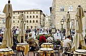 Outdoor cafe at Piazza della Signoria. Florence. Tuscany, Italy