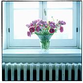 Window with flowers.