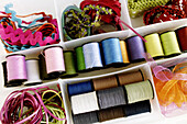 Close up, Close-up, Closeup, Color, Colored, Colorful, Colors, Colour, Coloured, Colourful, Colours, Craft, Dressmaking, Fix, Graphic, Hobby, Mend, Mending, Object, Objects, Reel, Reels, Repair, Sew, Sewing, Spool, Spools, Still life, Stitch, Tailoring, T
