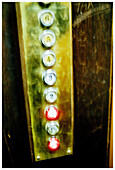 Aged, Button, Buttons, Color, Colour, Concept, Concepts, Control, Controls, Detail, Details, Ease, Easiness, Easy, Elevator, Elevators, Floor, Floors, Indoor, Indoors, Interior, Lift, Lifts, Lit, Old, Service, Storey, B75-488136, agefotostock