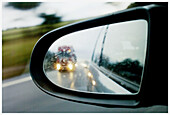 Auto, Automobile, Automobiles, Autos, Car, Cars, Close up, Close-up, Closeup, Color, Colour, Daytime, Detail, Details, Dirty, Drive, Driving, Driving mirror, Exterior, Highway, Highways, Lorries, Lorry, Mirror, Mirror image, Mirror images, Mirrors, Outdo