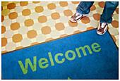 Adult, Adults, Color, Colored, Colorful, Colors, Colour, Coloured, Colourful, Colours, Contemporary, Detail, Details, Doormat, Doormats, English, Entrance, Entrances, Entries, Entry, Feet, Floor, Floors, Foot, Human, Indoor, Indoors, Interior, Mat, Mats,