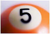 Ball, Balls, Billiards, Close up, Close-up, Closeup, Color, Colour, Concept, Concepts, Detail, Details, Game, Games, Idea, Ideas, Indoor, Indoors, Interior, Leisure, Motionless, Number, Number 5, Number five, Numbers, Object, Objects, One, One item, Play