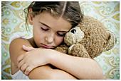Facial expressions, Female, Fondness, Girl, Girls, Hug, Hugging, Human, Indoor, Indoors, Infantile