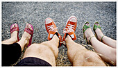 Accessories, Accessory, Adult, Adults, Color, Colour, Contemporary, Daytime, Detail, Details, Different, Exterior, Feet, Female, Foot, Footgear, Footwear, Ground, Grounds, Human, Leg, Legs, Male, Man, Men, Outdoor, Outdoors, Outside, People, Person, Pers