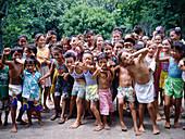 Children. Ua Huka. Marquesas Islands. French Polynesia