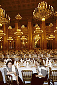 Hofburg imperial palace dining room ready for Kayserball. Vienna. Austria