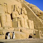 Temple of Ramses II in Abu Simbel. Nubia. Egypt