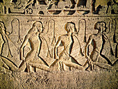 Relief at Temple of Ramses II. Abu Simbel. Nubia. Egypt