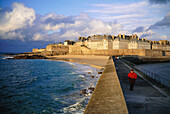 The dock at dusk. Saint Malo. Ille-et-Villaine. Brittany. France
