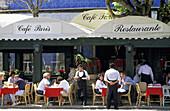 Cafe Paris outdoor cafe. Lisbon. Portugal