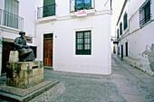 Monument to Jewish philosopher Maimonides in the judería (Jewish quarter). Córdoba. Spain
