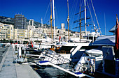 Yachts moored in the marina. Cannes (alpes maritimes, 06). Cote d azur. France