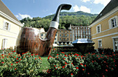 Huge pipe. Saint-Claude, world capital of the pipe. Doubs. Franche-Comte. France