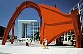 Huge sculpture by Alexander Calder, La Defense district. Paris. France