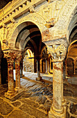 Interior of Serrabone priory, built 11th century. Pyrenees-Orientales. Languedoc Roussillon. France
