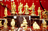 Gold handicrafts at shops of Yu Yuan garden. Shanghai. China