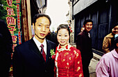Just married couple. Wushen, small historic city with many canals. Zhejiang province, China