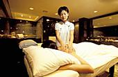 Chinese massages in hotel spa. Kowloon, Hong Kong. China
