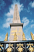 Ancient Egyptian obelisk coming from Luxor at Concorde Square. Paris. France