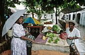 Market. Victoria, the capital. Mahe Island. Seychelles archipelago. Indian Ocean.