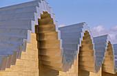 Detail of Ysios winery building design by Santiago Calatrava. Rioja alavesa, Euskadi. Spain