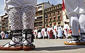 Dantzaris. Basque folklore. Traditional dance Espata Dantza . Fiestas de la Cruz. Legazpi. Gipuzcoa. Basque Country. Spain