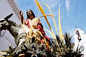 Float at procession during Holy Week. Mijas. Málaga province. Spain