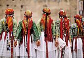 Berber dancers at folk festival. Marrakech. Morocco