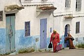 Street scene in Chechaouene. Rif region, Morocco
