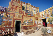 House at Gurna, Nile River valley. West Bank, Luxor. Egypt