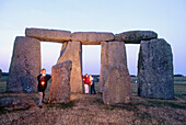 Children visit at Stonehenge. Salisbury plains. England