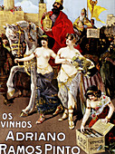 Sexy and art nouveau advertising posters commissioned by Adriano Ramos Pinto, the founder of the firm which bears his name. Port wine (Vinho do Porto). Oporto. Portugal