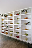 Bowl, Bowls, Ceramic, Ceramics, Color, Colour, Decoration, Furniture, Indoor, Indoors, Interior, Plate, Plates, Shelf, Shelves, Shelving, Wall, Walls, White, B29-636130, agefotostock