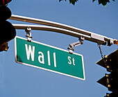 Wall Street sign. North Bergen. New Jersey. USA.