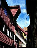 Bredsgarden, hanseatic wharf, Bergen, Norway.