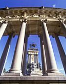 Columns, Alfonso xii monument, Parque del retiro, Madrid, Spain.