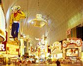 Hotels & casinos, Fremont street, Las vegas, Nevada, USA.
