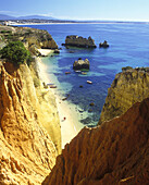Beach, Lagos, Algarve coastline, Portugal.