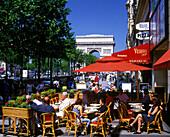 Street scene, Cafe, Champs elysees, Paris, France.