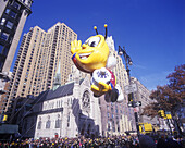 Honey bee balloon, Macy s thanksgiving day parade, Manhattan, New York, USA.