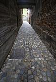 Street in Old Town Putj in Slovenia