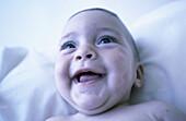 0 to 6 months, 0-6 months, 1 to 6 months, 1-6 months, 7 to 12 months, 7-12 months, Babies, Baby, Caucasian, Caucasians, Child, Childhood, Children, Close up, Close-up, Closeup, Color, Colour, Contemporary, Emotion, Emotions, Expressive, Expressiveness, F