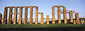 Roman aqueduct. Merida. Badajoz province. Extremadura. Spain