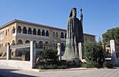 Statue of Makarios III, archbishop and primate of the Orthodox Church of Cyprus. Nicosia, Cyprus