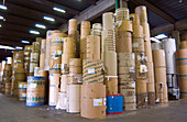 Paper rolls at printer s warehouse